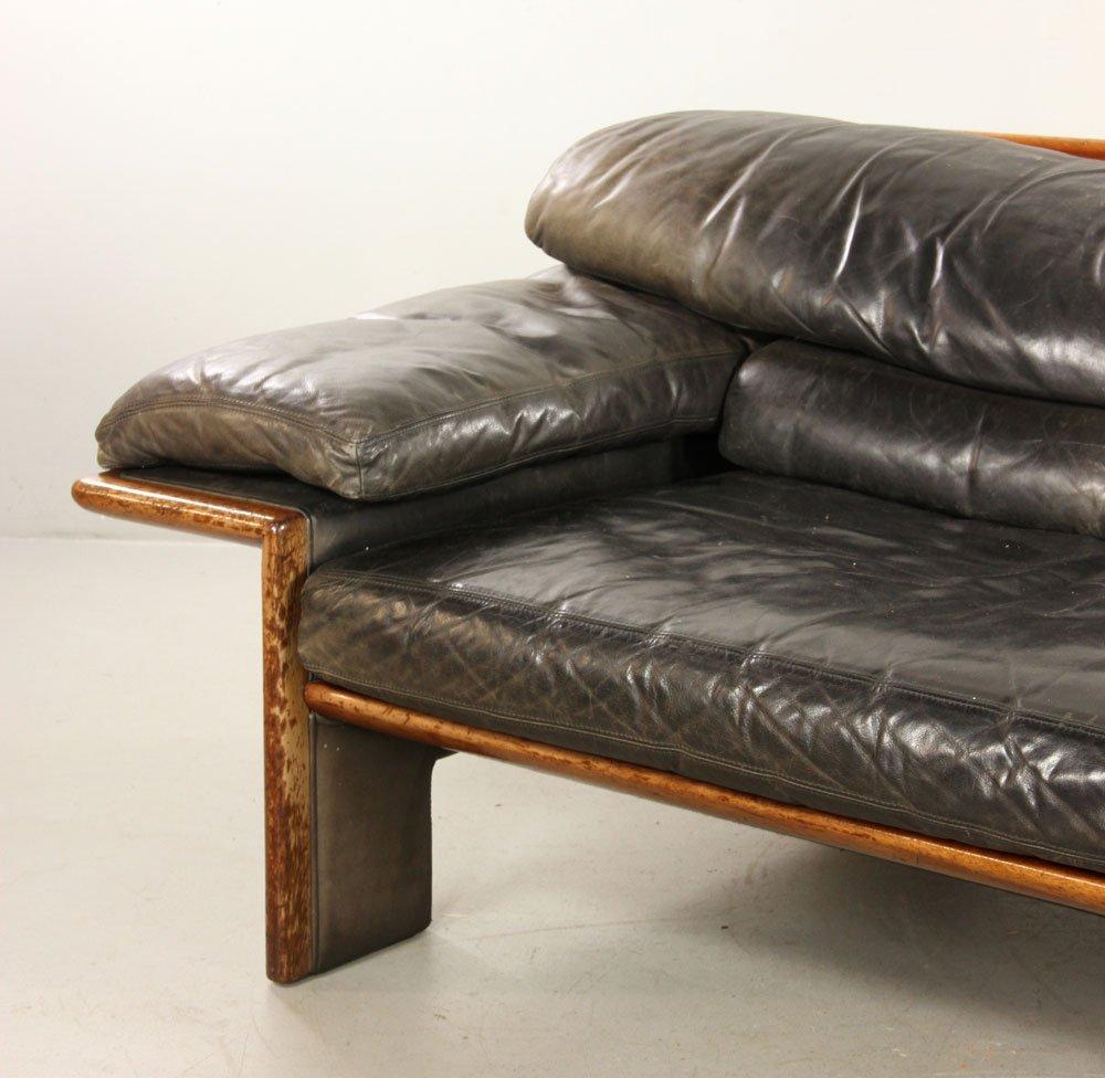 Mid-Century Modern Leather Sofa - 2