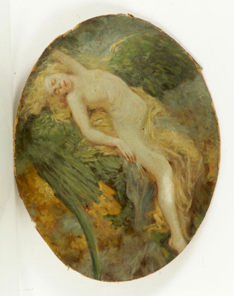 American School, Nude Bather, Oil on Canvas