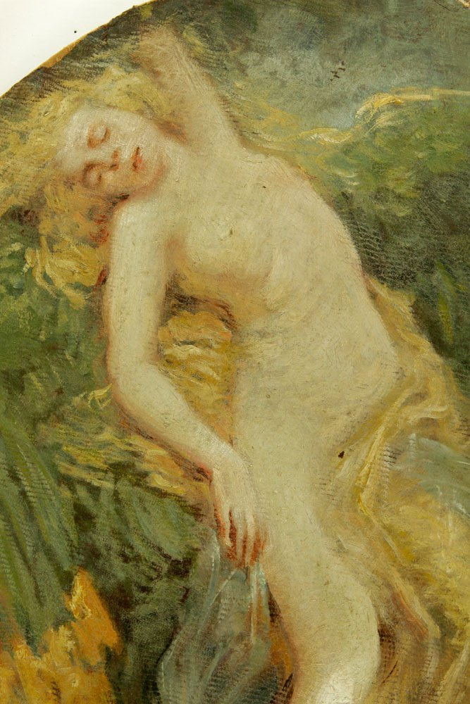 American School, Nude Bather, Oil on Canvas - 5