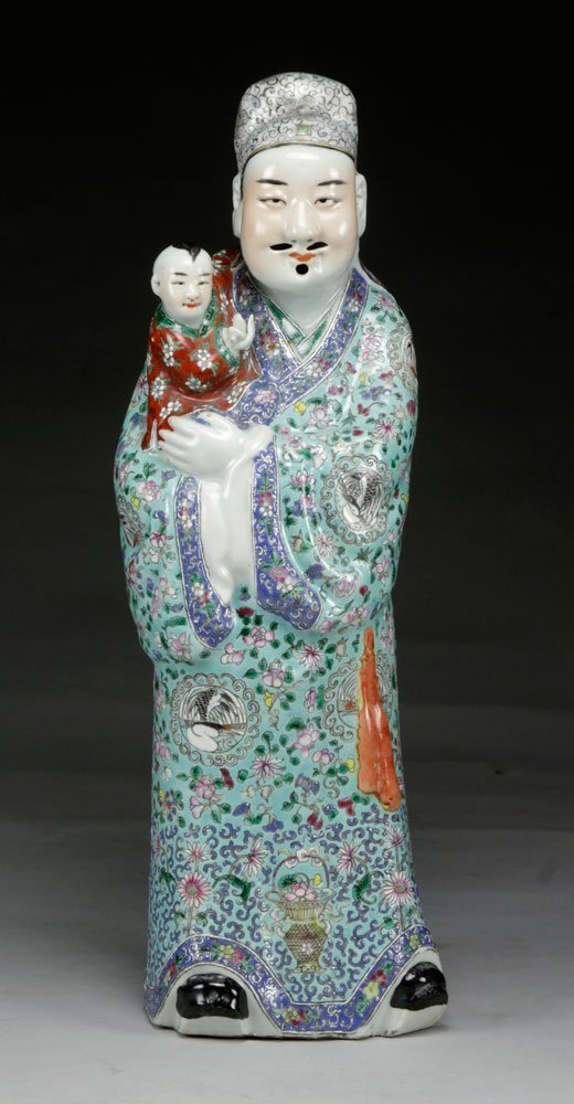 Chinese Famille Rose Figure