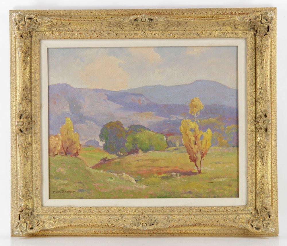Bartlett, California Mountains Vista, Oil on Canvas