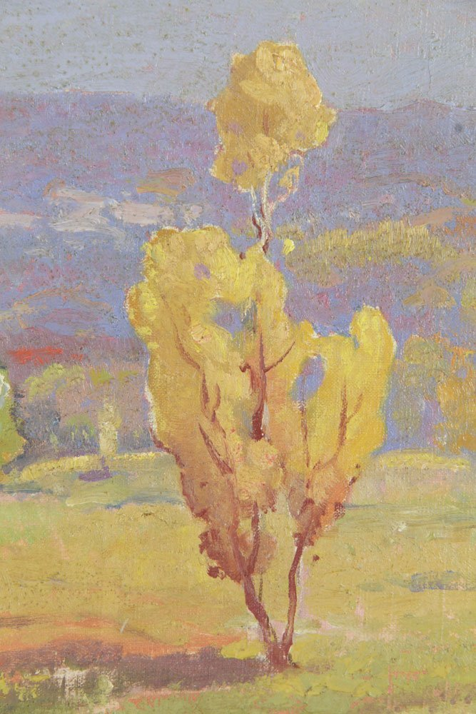 Bartlett, California Mountains Vista, Oil on Canvas - 4