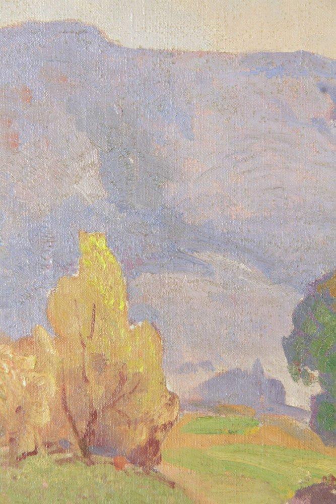 Bartlett, California Mountains Vista, Oil on Canvas - 5