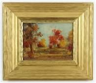 Sartelle, Fall Landscape, Oil on Board