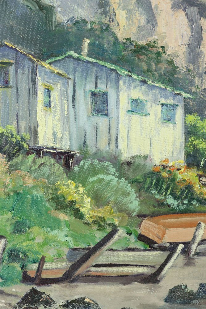 Grimm, California Cottage, Oil on Masonite - 4