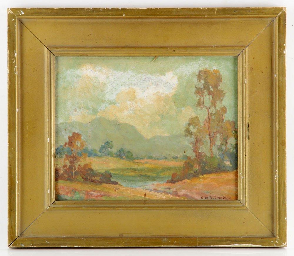 Ingle, California Landscape, Oil on Board