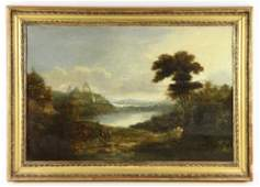 18th C. English School, Landscape, Oil on Panel