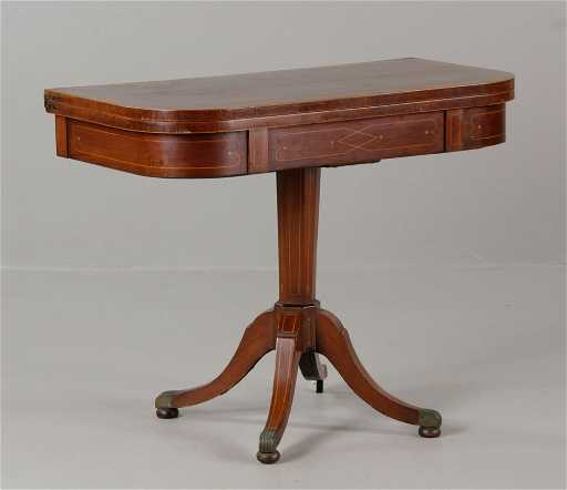 Antique Duncan Phyfe Style Card Table