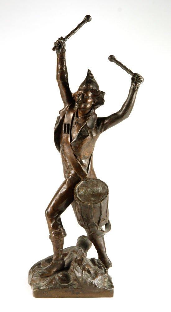 French Drummer Boy Sculpture, Bronze