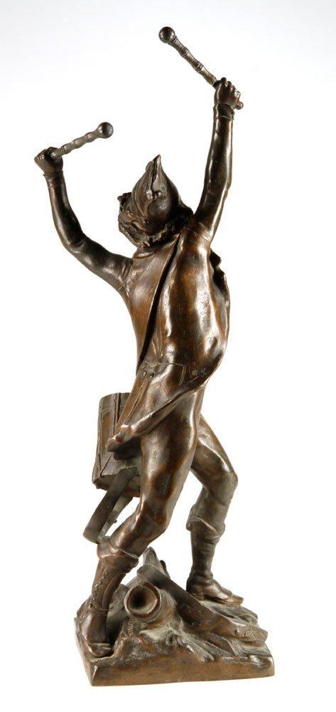 French Drummer Boy Sculpture, Bronze - 2