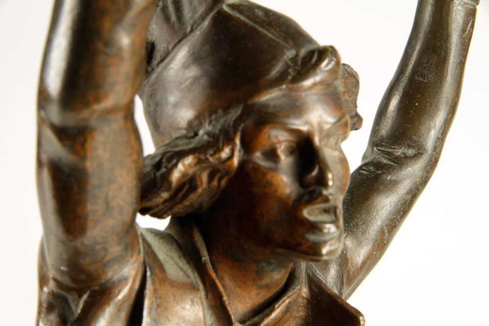 French Drummer Boy Sculpture, Bronze - 5