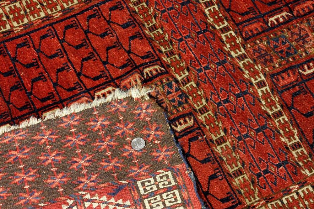 Antique Turkmen Carpet - 4