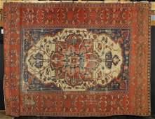 19th C. Antique Persian Serapi Carpet