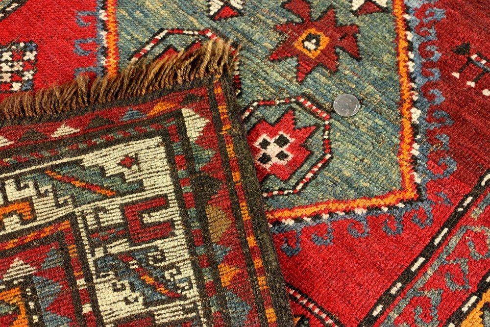 Antique Caucasian Carpet Runner - 5