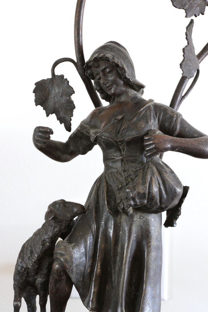 Pr. Figural Bronzed Lamps - 2