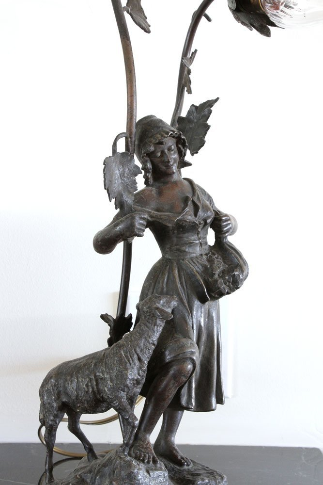 Pr. Figural Bronzed Lamps - 3