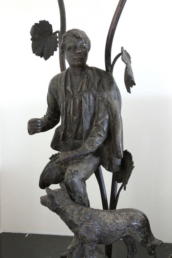 Pr. Figural Bronzed Lamps - 6