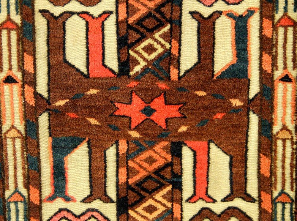 2 Antique Turkmen Carpet Fragments - 3