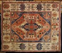 Semi Antique Persian Serapi Carpet