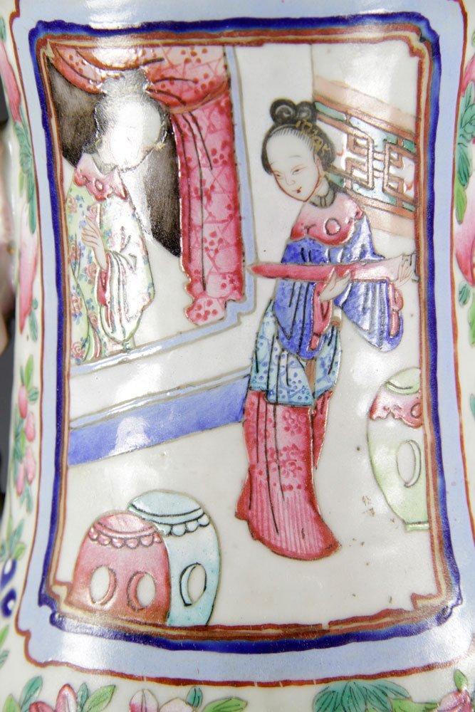 19th C. Chinese Rose Mandarin Vase - 10