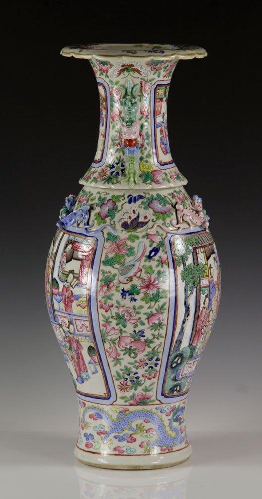 19th C. Chinese Rose Mandarin Vase - 2