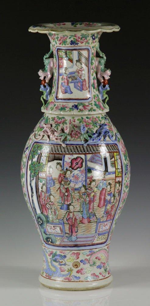 19th C. Chinese Rose Mandarin Vase - 3