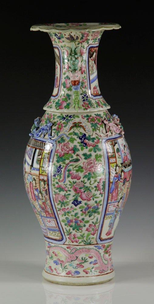 19th C. Chinese Rose Mandarin Vase - 4