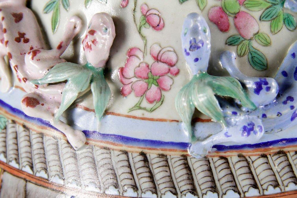 19th C. Chinese Rose Mandarin Vase - 8