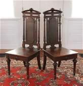 Pr. English Victorian Walnut Side Chairs
