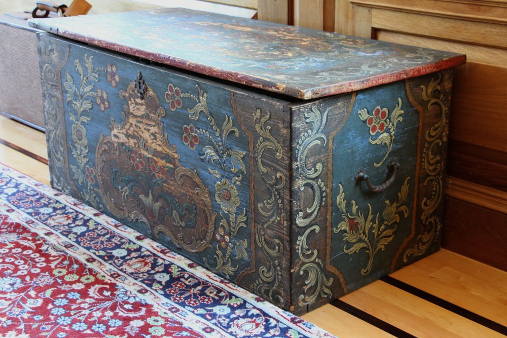 18th to 19th C. Continental Wooden Chest