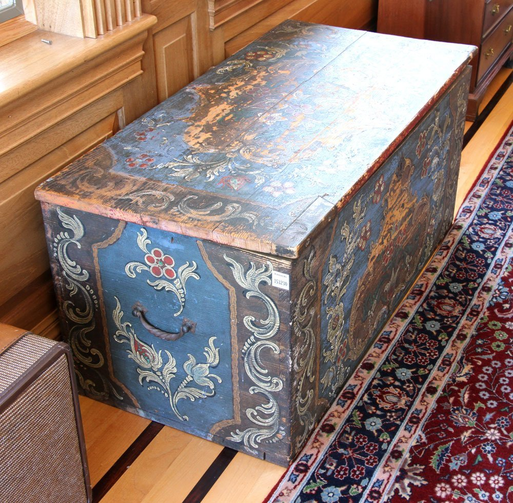 18th to 19th C. Continental Wooden Chest - 3