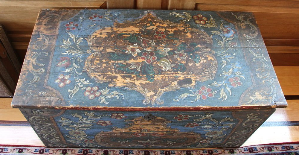 18th to 19th C. Continental Wooden Chest - 4