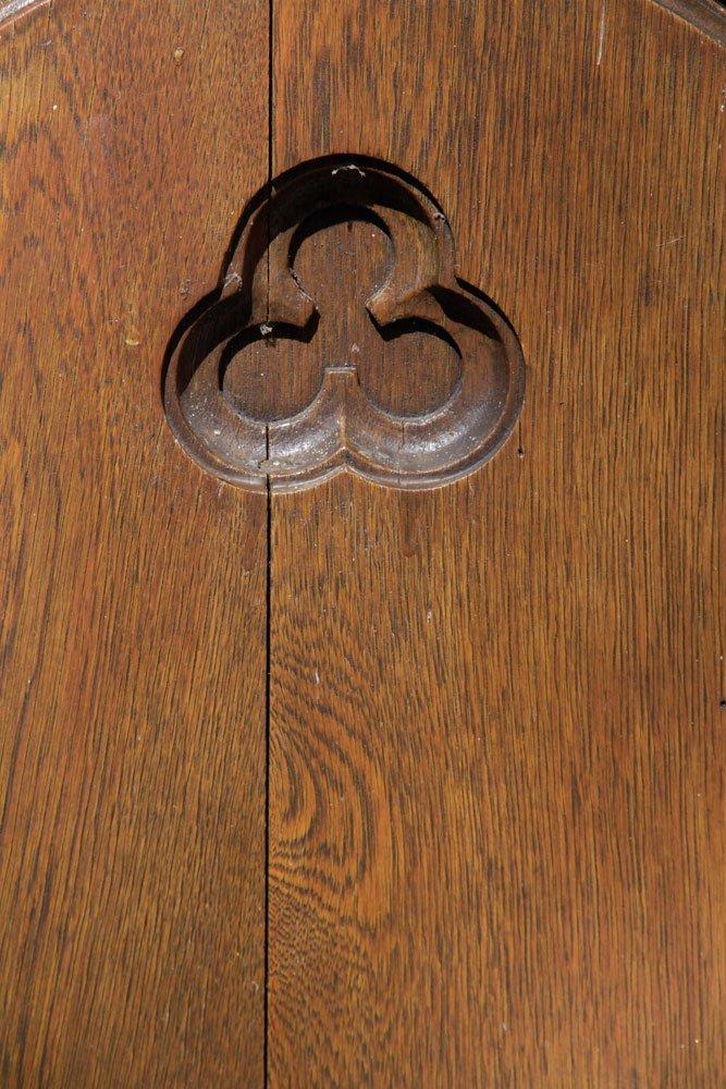 Antique Oak Church Pew - 4