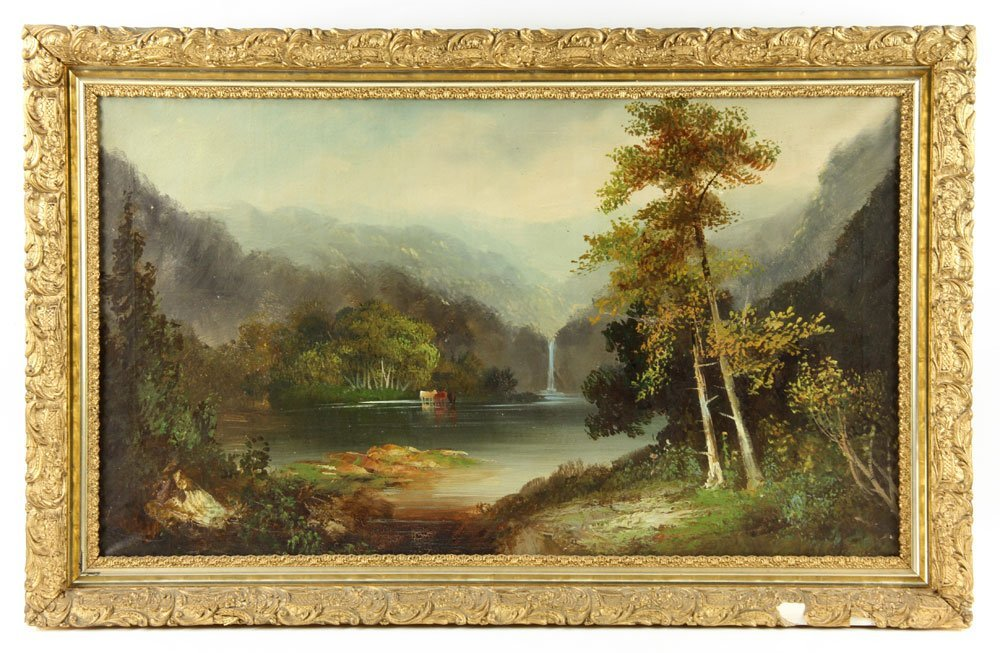19th C. American School, 2 Landscapes, Oil on Canvas - 2