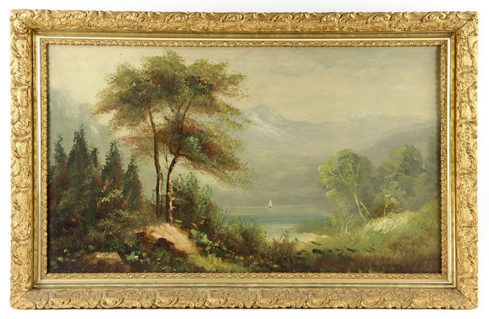 19th C. American School, 2 Landscapes, Oil on Canvas - 3