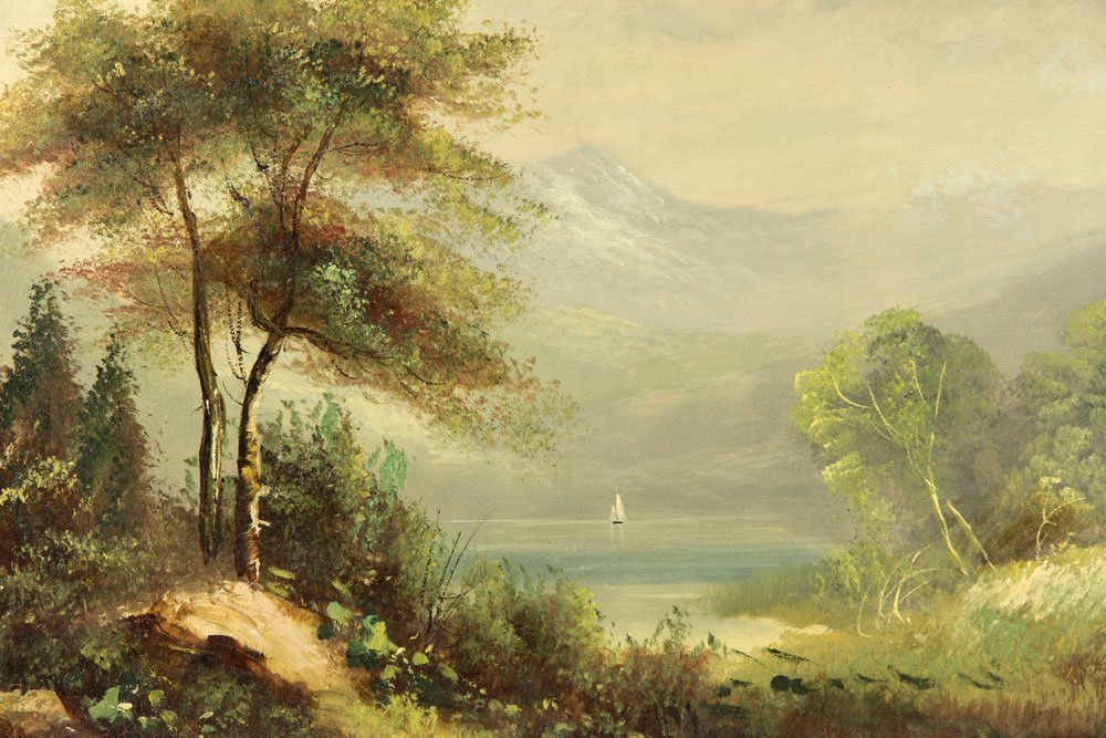 19th C. American School, 2 Landscapes, Oil on Canvas - 4