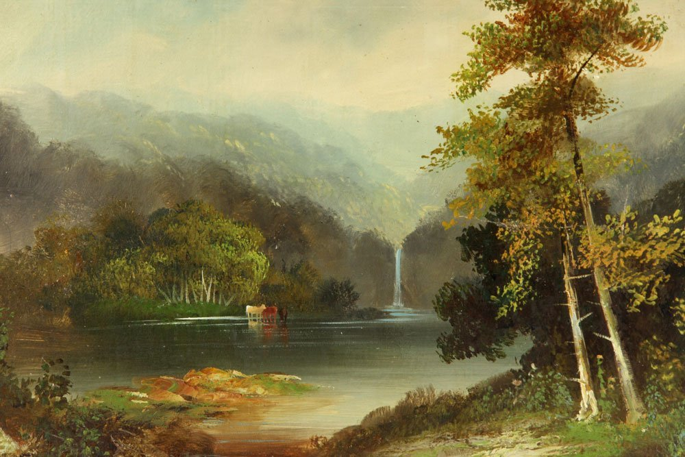 19th C. American School, 2 Landscapes, Oil on Canvas - 5