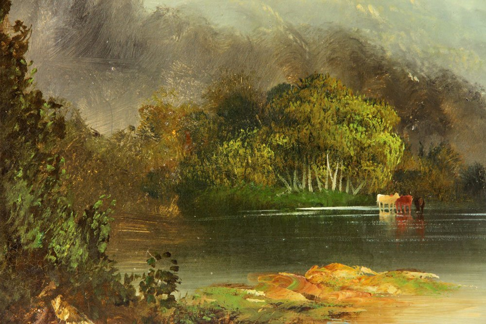 19th C. American School, 2 Landscapes, Oil on Canvas - 7