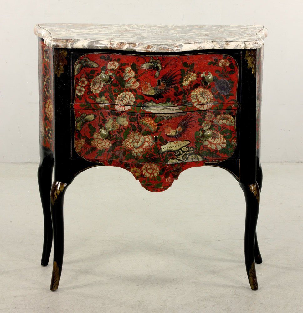 French Hand Painted Commode
