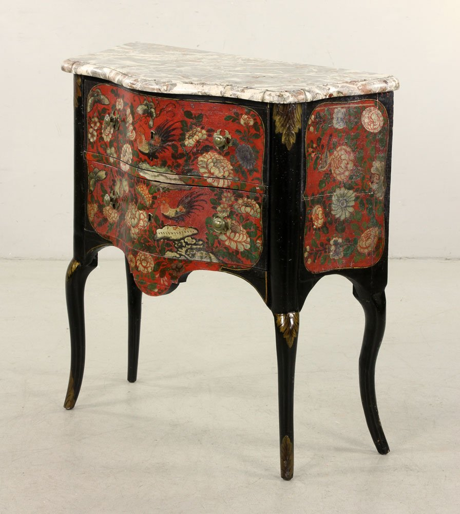 French Hand Painted Commode - 2