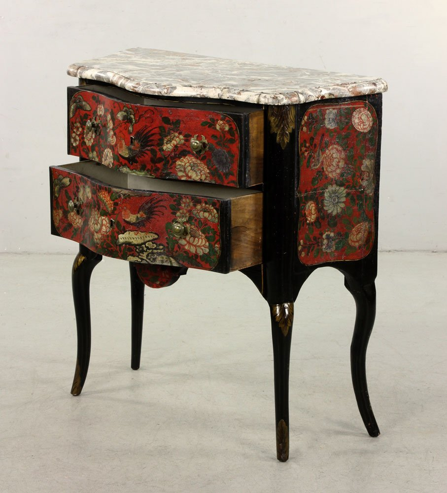 French Hand Painted Commode - 3