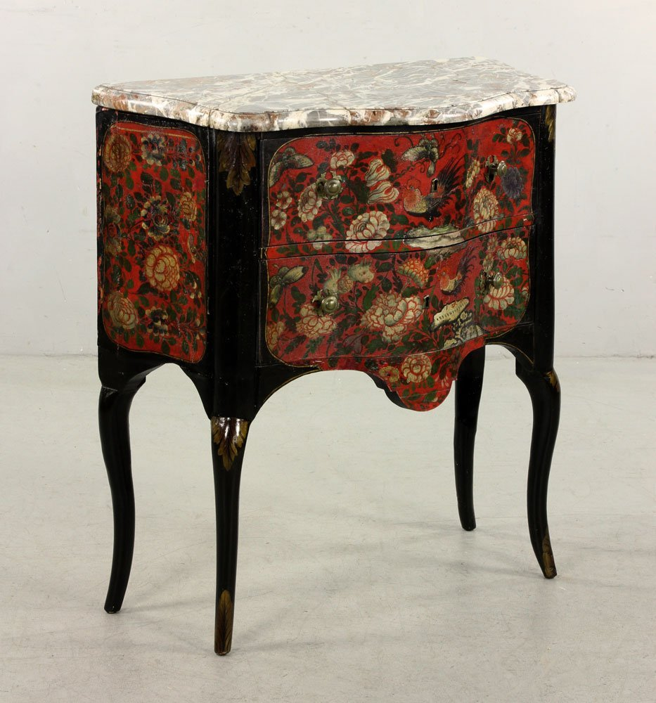 French Hand Painted Commode - 4