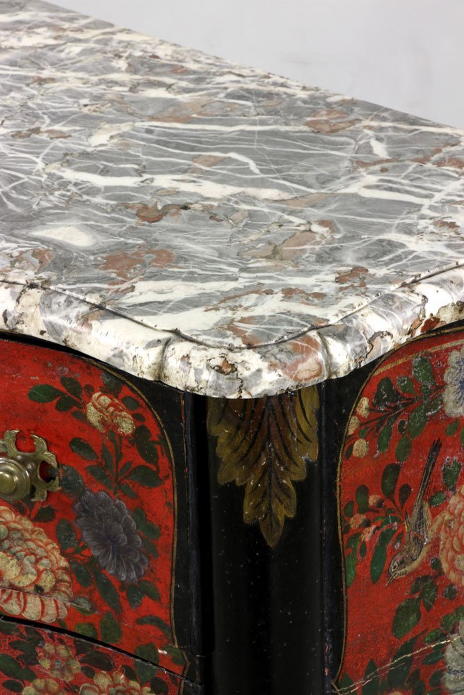 French Hand Painted Commode - 7
