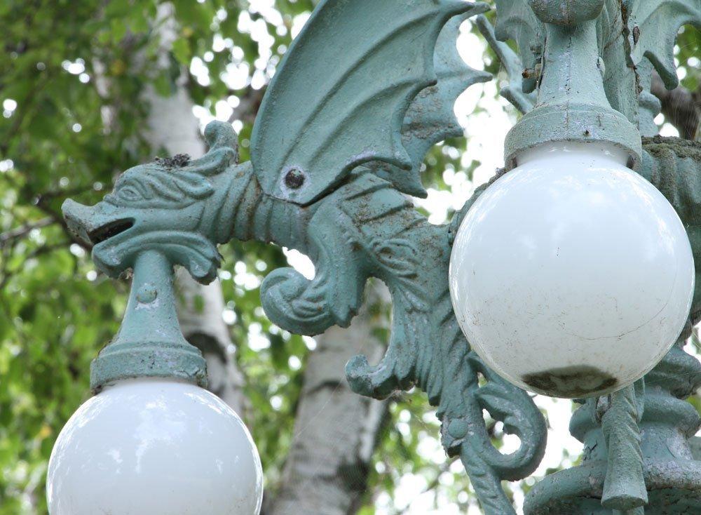 Semi Antique Pole Street Lamp - 5