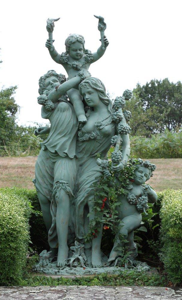 Classical Metal Garden Sculpture