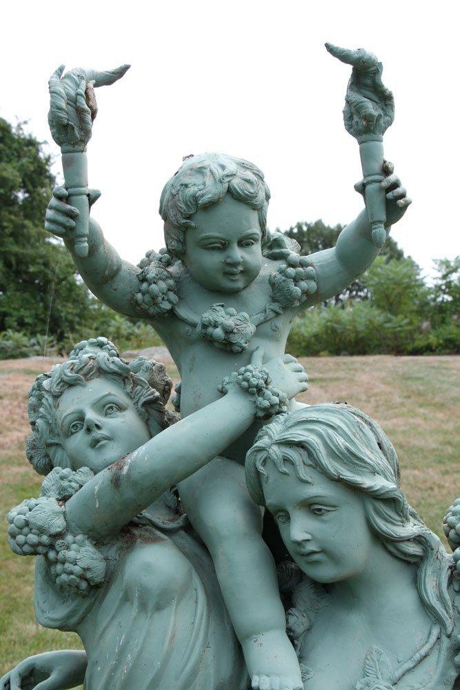Classical Metal Garden Sculpture - 5
