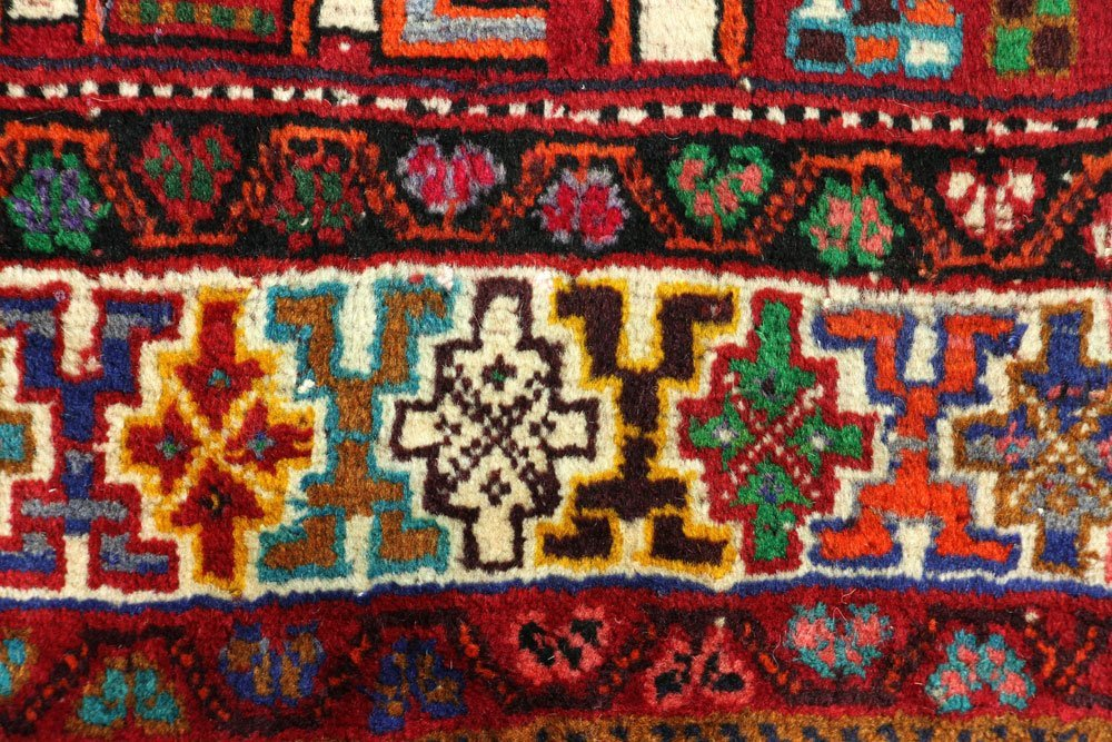 Semi Antique Qashqai Carpet - 6
