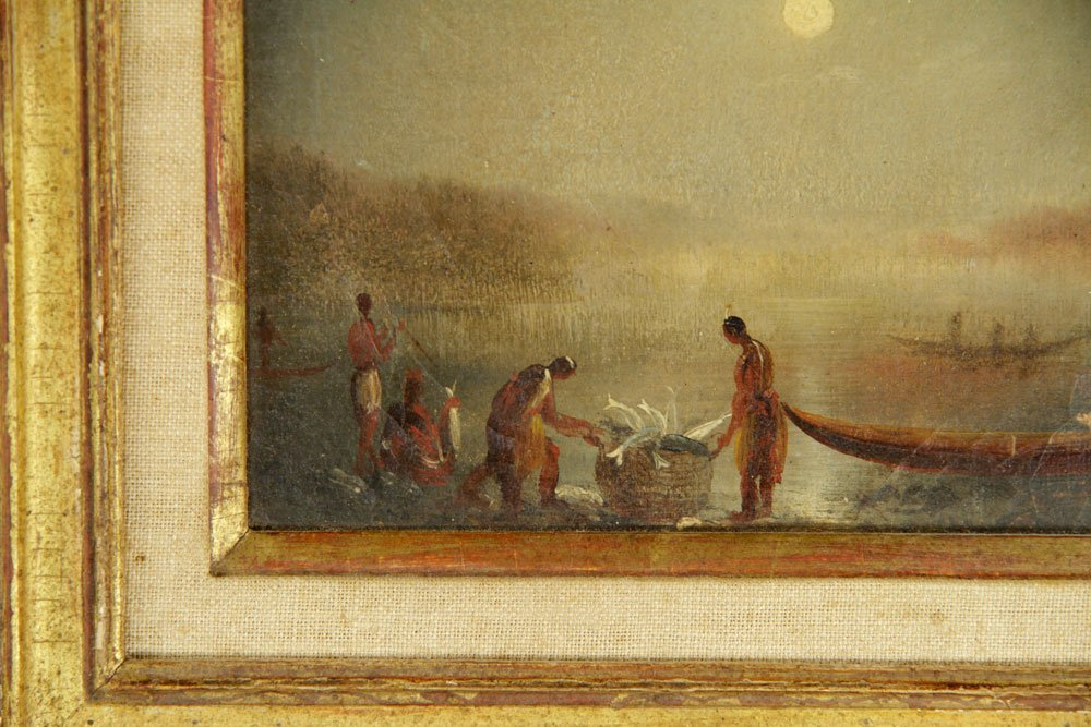 Attr. Bierstadt, Native Americans, Oil on Paper - 3