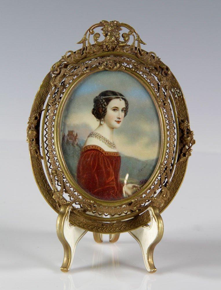 19th C. Miniature Portrait of a Lady
