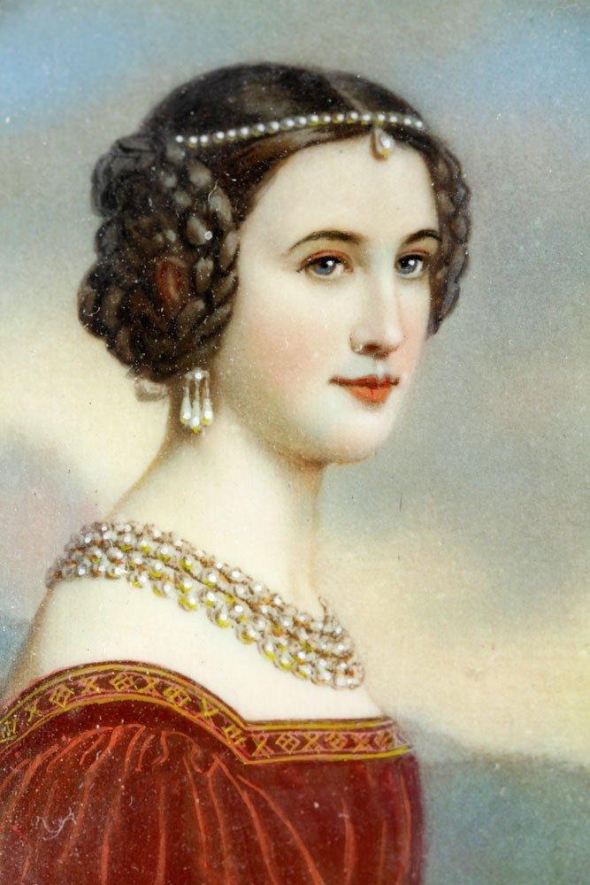 19th C. Miniature Portrait of a Lady - 5